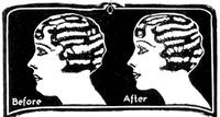Before and After -- 1931 ad (artist unknown)