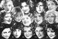 14 Movie Stars (detail, 1930 ad)