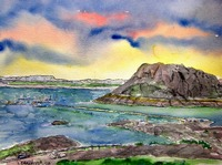 elephant butte lake new mexico painting
