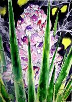 yucca flower watercolor painting