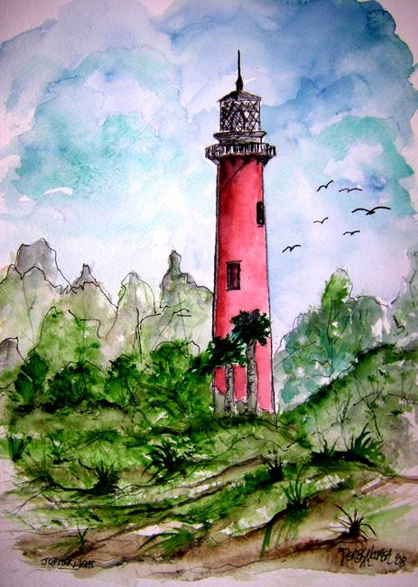 jupiter lighthouse florida collectible print