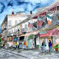"""savannah river street painting"" by derekmccrea"