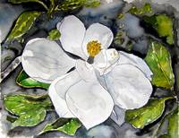 magnolia flower painting