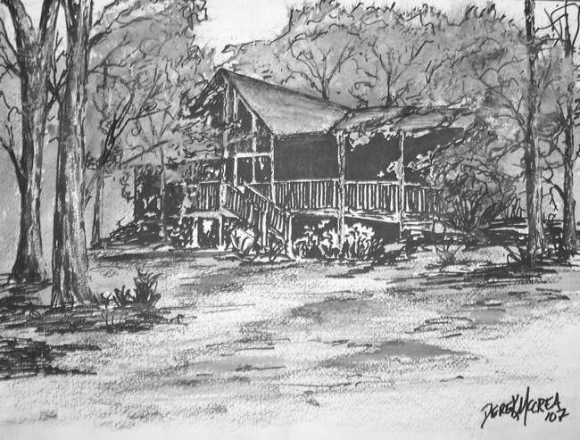 Pencil Drawings Of Small Log Cabins | Joy Studio Design Gallery - Best ...