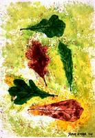 LEAVES still life painting art print