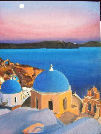 Santorini by Sebastian Mc Laughlin