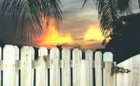 Sunset Over the Fence