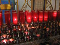 Candles at St Francis of Assisi Cathedral