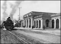 Oakland Train Depot c1920 by WorldWide Archive