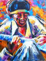 Jimi Hendrix Portrait-VooDoo Child