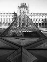 Aligned Pyramids at the Louvre