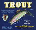 Trout Fish Apple Crate Label