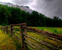 Homestead Fence and Stone Mountain Meadow