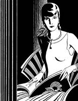 Deco Lady, 1931 ad detail (artist unattributed)