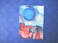 Night of the blue Moon ACEO