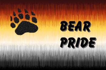 Furry Bear Pride Flag With Bear Pride Letters By Jack Fetch
