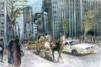 New York 5th Avenue Ride - Fine Art Painting