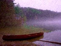 Pass Lake Canoe Painting