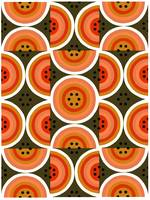 Circles Orange Khaki