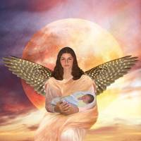 Angel Holding Baby