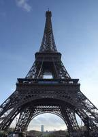 Vertical Panoramic view of Eiffel