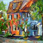 """""""Pink House On Chalmers Street Charleston South Car"""" by GinetteCallaway"""