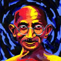 """Mahatma Gandhi"" by RamosStudios"