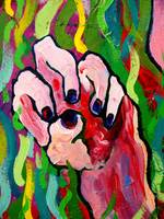 Hands Defy Their Planting (detail 8 anger)