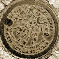 New Orleans Water Meter Cover (Sepia)