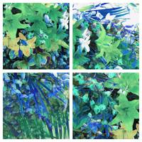 Val's Flowers Green Blue Series 4 in 1