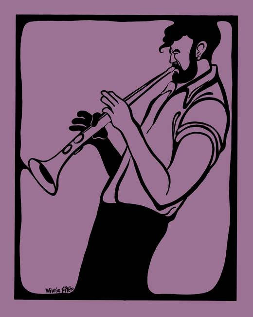 Horn Player )Purple(