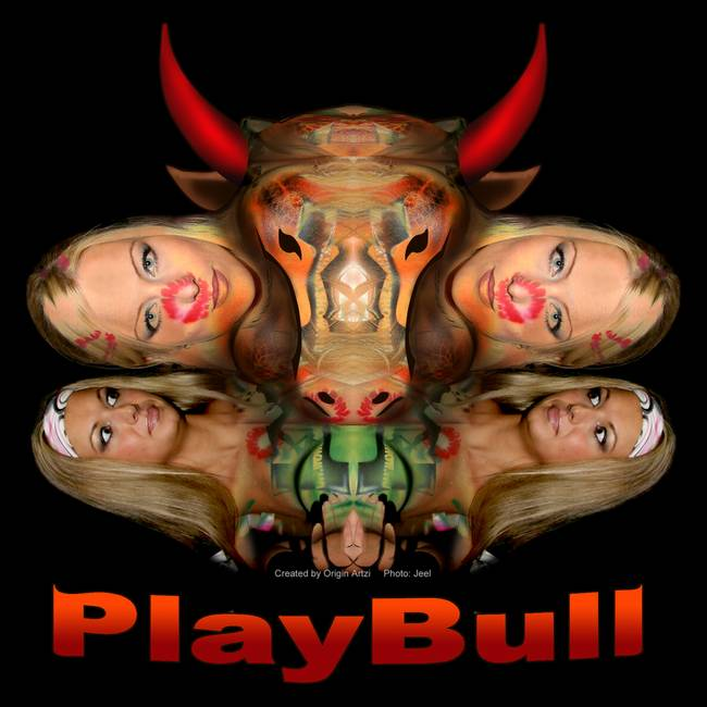PlayBull enhanced )black background(