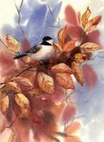 Autumn Chickadee by Sharon Himes