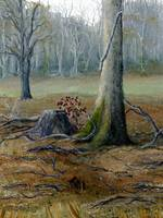 Art; Louisiana Winter Landscape; Oil Painting