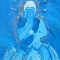 blu buddha series-fruit of the blossom Art Prints & Posters by areeya marie ***