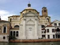 Waterfront Church in Venice Italy