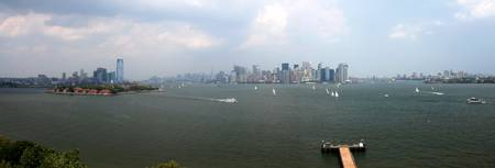 NYC Skyline from the Statue of Liberty