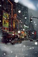 Times Square in the snow.