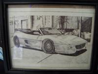 Ferrari 355 Pen Drawing