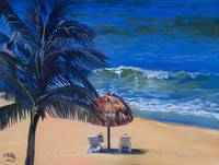 Keating Fine Art Print: Mexico Beach Palapa, Huatu