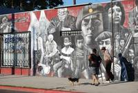 Black Panther Party Mural on 11th Street and Jeffe