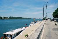 Rhone River in Arles, France