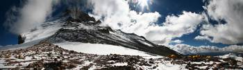 High camp at 19,200ft. on Aconcagua