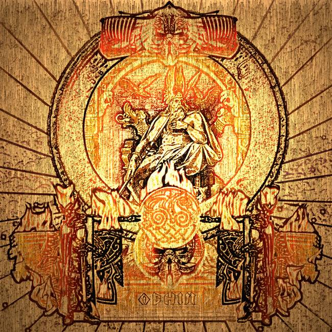Odin Norse God On His Thrown In Valhalla By Elk Thorn Melrose