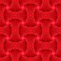 Woven Red Frill