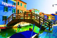 Wooden Bridge in Burano