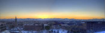Denver Sunset Panorama