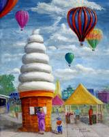Giant Ice Cream Cone and Balloons