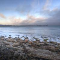 Ventura Beach and Pier by Eileen Ringwald