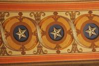 Capitol, Senate Side - Wall Detail - Stars